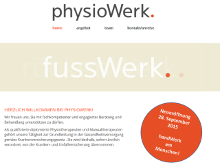 Pagewerkstatt: Physiotherapie-Praxis Physiowerk